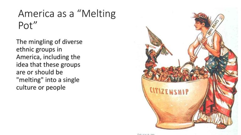 an analysis of the american melting pot theory