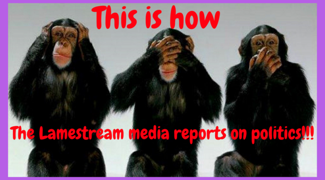 The lamestream media is looking the other way!!!
